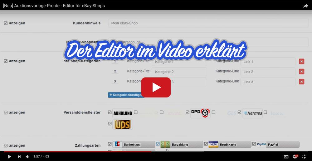 Flat Blue Ebay Template Auktionsvorlage Verkaufsvorlage Ebayvorlage